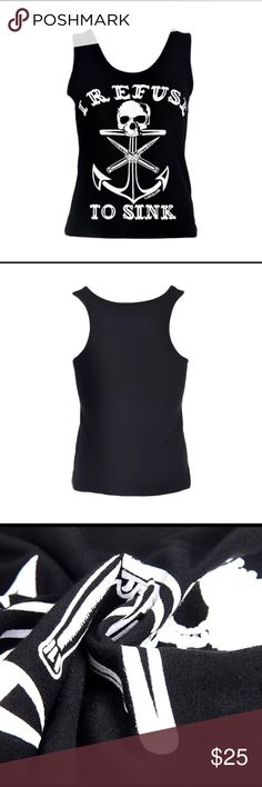 Printed T-shirt Material:   Cotton Blend  Pattern: Pure  Neckline: Round Neck  Sleeve: Sleeveless  Color:    Black  Package include: 1PC Tops Tank Tops