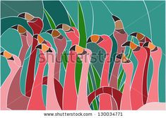 Find Flamingo Stained Glass Window stock images in HD and millions of other royalty-free stock photos, illustrations and vectors in the Shutterstock collection. Stained Glass Birds, Stained Glass Designs, Stained Glass Panels, Stained Glass Projects, Stained Glass Patterns, Fused Glass, Free Mosaic Patterns, Bird Patterns, Mosaic Designs