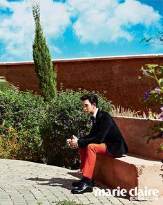 "Kim Soo Hyun Visits Desert Villa for ""Marie Claire"" Magazine Photoshoot"