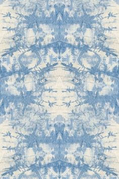 FABrics - Tie-Dye | Doodle Home - Blue and white wallcovering by The Detroit Wallpaper #decor #interiordesign #wallpaper