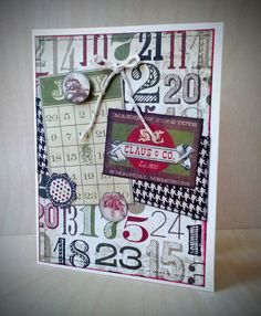 Christmas card featuring Simple Stories' 25 Days collection Simple Stories, Advent Calendar, Christmas Cards, Card Making, Paper Crafts, Scrapbook, Toys, Holiday Decor, How To Make