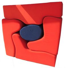"""Roberto Mattas's Malitte seating system. Designed in 1966 for Knoll. 1966. Polyurethane foam and wool, Overall: 63 x 63 x 25"""" (160 x 160 x 63.5 cm) .a: 19 1/2 x 63 x 25"""" (49.5 x 160 x 63.5 cm) .b: 37 x 34 x 25"""" (94 x 86.4 x 63.5 cm) .c: 47 3/4 x 26 1/4 x 25"""" (121.3 x 66.7 x 63.5 cm) .d: 32 x 49 1/2 x 25"""" (81.3 x 125.7 x 63.5 cm) .e: 17 x 25 x 25"""" (43.2 x 63.5 x 63.5 cm). Manufactured by Gavina, Italy  Price:   $3,200.00"""