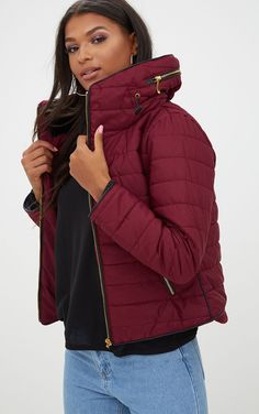 Buy PrettyLittleThing Mara Padded Coat from the Next UK online shop Puffer Jackets, Outerwear Jackets, Winter Jackets, Coats For Women, Clothes For Women, Women's Clothes, Padded Jacket, Uk Online, Shop