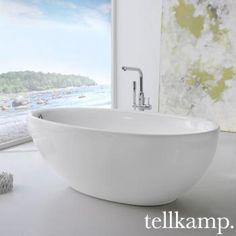 Tellkamp Neon: Eine Freistehende, Ovale Design Badewanne Mit Abgerundeter  Rückenpartie Aus Schlag