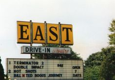 East Drive-In in Tallmadge, Ohio: Marquee