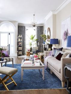 Peek into Natalie Morales' Newly Redesigned Living Room via @domainehome