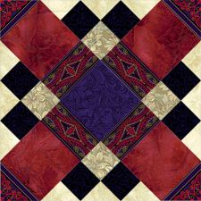 Free 10 Quilt Block Patterns | Quilter's Design Board > Domino and Squares