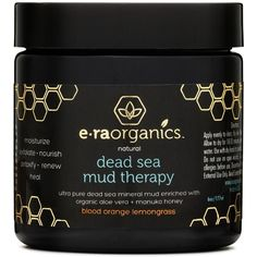 Dead Sea Mud Mask with Organic Aloe Vera, Shea Butter, Manuka Honey... ($32) ❤ liked on Polyvore featuring beauty products, skincare, face care, face masks, clay face mask, hydrating facial mask, manuka, cleansing face mask and clay mask