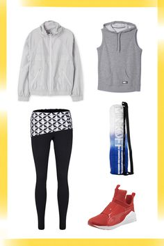 How To Style Your Activewear For Everyday — To Brunch & Beyond #refinery29  http://www.refinery29.com/activewear-outfits#slide-5  YogaA light jacket tied around your waist and a sleeveless hoodie on top exercises your right to bare arms. Throw a graphic yoga mat bag over your shoulder, and you definitely won't miss your usual everyday crossbody.Adidas Adigirl Hoodie, $45, available at Adi...