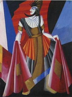 Aleksandra Ekster, costume desing for Salomé (Herod), 1917