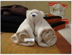 A Towel Bear is cute.