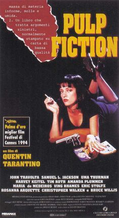 Pulp Fiction   Un film di Quentin Tarantino. Con John Travolta, Samuel L. Jackson, Tim Roth, Amanda Plummer, Eric Stoltz.  Hard boiled, durata 154' min. - USA 1994.
