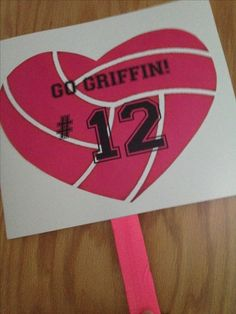 Signs uses at club volleyball to cheer for players during the game.