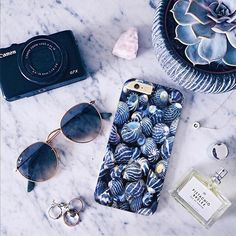Blue Sea Shells cover for iPhone Samsung HTC - Solomiia-Ivanytsia - Etui na…