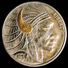 Steve Cox - Indian Chief Indian Theme, Indian Art, Hobo Nickel, Coin Art, Antique Coins, Art Forms, Sculpture Art, Jewelry Collection, Buffalo