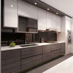 singapore interior design kitchen modern classic kitchen partial open - Google Search