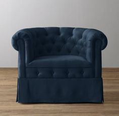 RH baby&child's Tufted Velvet Tub Chair Swivel Glider:Our chair's rolled arms and button tufting give a nod to the classic Chesterfield sofa. Designed for maximum comfort, its enveloping tub-shaped silhouette is set on a hardened steel mechanism that allows for a full-motion – and ultra-soothing – swivel and glide.