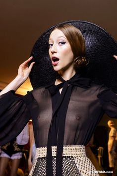 Alana Zimmer at Ulyana Sergeenko  Spring/2013 Haute Couture backstage, Photo Douglas Bassett