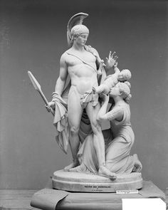 """met-european-sculpture: """"Hector and Andromache by Giovanni Maria Benzoni, Metropolitan Museum of Art: European Sculpture and Decorative Arts Gift of Mrs. Lawrence Kip, 1899 Metropolitan Museum of Art,. Mystery Of History, Art History, Saint Raymond, Baptism Of Christ, Greek Tragedy, European Paintings, Egyptian Art, Metropolitan Museum, Art Decor"""