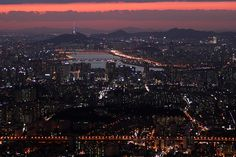port80 Blog :: 남한산성 서문 포인트에서 바라본 서울야경
