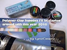 Polymer Clay supplies I'll be working with in 2016 - YouTube