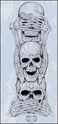 No Evil Art Print by Vernon Farris - No Evil Art Print by Vernon Farris . - No Evil Art Print by Vernon Farris – No Evil Art Print by Vernon Farris – - Kunst Tattoos, Neue Tattoos, Tattoo Drawings, Tattoo Sketches, Cool Skull Drawings, Totenkopf Tattoos, Evil Art, Geniale Tattoos, Marquesan Tattoos