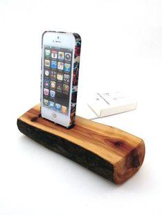 Redwood iPhone 5 Docking Station by Dock Artisan