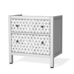 Möbelfolie Mediana für IKEA Hemnes Waschbeckenschrank 2 Schubladen