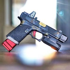 Just guns gear girls, no chatter. No captions, no fucking hashtags. Modified Nerf Guns, Glock Mods, Agency Arms, Glock 22, Indoor Shooting Range, Custom Glock, Weapon Storage, Concept Weapons, Cool Guns