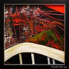 New Zealand artist Robert Ellis - City with New Flyover oil on board) New Zealand Art, New Zealand Travel, Abstract Painters, Abstract Art, Auckland Art Gallery, Best Artist, City Photo, Around The Worlds, Artwork