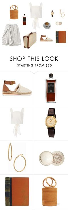 """""""m a d r i d"""" by lazybambina ❤ liked on Polyvore featuring See by Chloé, Serge Lutens, Johanna Ortiz, Acne Studios, Casio, Bony Levy, Paul & Joe, Out of Africa and Simon Miller"""