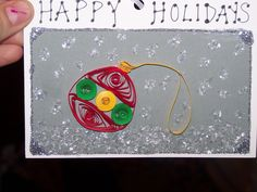 Handmade Christmas card with quilling