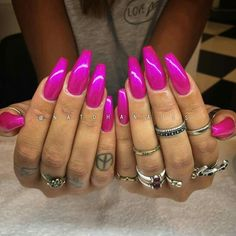 Beautiful Pink coffin nails