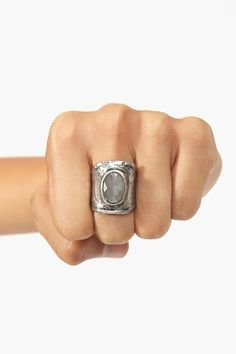 Hammered Stone Ring. What an awesome way to photograph your rings