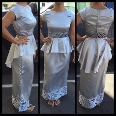 Photos and Videos Samoan Designs, Island Outfit, Island Wear, Island Wedding Dresses, Samoan Dress, Island Style Clothing, Hawaiian Fashion, Evening Dress Patterns, Frack