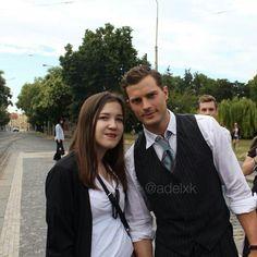 Com fãs em 02/08 Praga