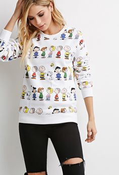 Peanuts Graphic Sweater - Sweatshirts & Knits - 2000157955 - Forever 21 EU English