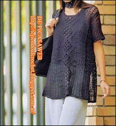Una linda remera tejida a crochet
