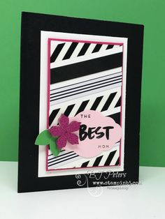 absolutely uhmazing April 2017 Paper Pumpkin kit!  A Sara Thing!  I'm in LOVE with the acrylic flowers!  This is an alternate project I created.  #stampinbj.com