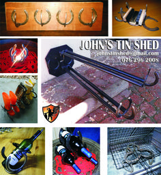 Recycled Horseshoe Items Tin Shed, Recycling, Upcycle