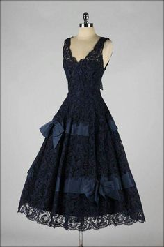 Vintage dark blue dress