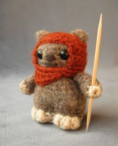 WICKET THE EWOK: Click on the image to be taken to a page where you can purchase the pattern for this special little guy.