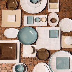 If there was ever a word for increase in variety, it would probably be #Mesh. Now available with lines in Aqua, Cream and Walnut! #officialrosenthal #rosenthal