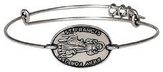 RETIRED/SOLD OUT Alex & Ani St.Francis russian silver horizontal bangle - http://designerjewelrygalleria.com/alex-ani/retiredsold-out-alex-ani-st-francis-russian-silver-horizontal-bangle/