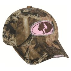 @Overstock - This Mossy Oak Camo Ladies Frayed Hat is perfect for hunting or casual wear. This cap features quality embroidery and has an adjustable closure.http://www.overstock.com/Sports-Toys/Womens-Mossy-Oak-Camo-Frayed-Hat/7348478/product.html?CID=214117 $14.79
