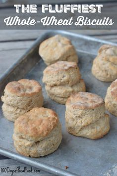 The Fluffiest Whole-Wheat Biscuits with Pastry Flour, Baking Powder, Salt, Butter, Buttermilk. Sour Cream Biscuits, Tea Biscuits, Buttermilk Biscuits, Flaky Biscuits, Homemade Biscuits, Whole Wheat Biscuits, Whole Wheat Flour, Whole Wheat Scones Recipe, Whole Wheat Rolls