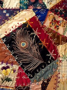 The American Crazy Quilt Exhibit at the Baltimore Museum of Art.  Photo by Needle's Eye Stories