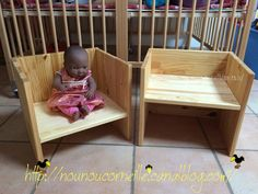Petite chaise Montessori (3 positions) faite maison