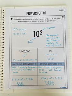 5th Grade Teachers, 5th Grade Math, Fifth Grade, Teaching Math, Teaching Resources, Powers Of 10, I Love Math, Math Notes, Beginning Of The School Year