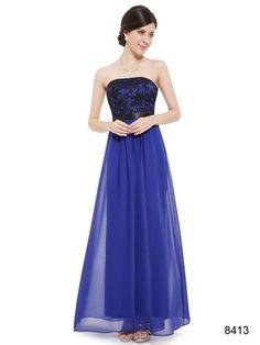 ベアトップのブルー系パーティーロングドレス - ロングドレス・パーティードレスはGN 演奏会や結婚式に大活躍!
